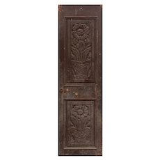 """Antique 25"""" French Colonial Door, Carved Panels"""