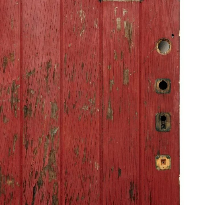 Antique 36  Exterior Plank Door with Small Window Early 1900s & Antique 36