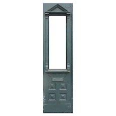 """Reclaimed Antique 23"""" Eastlake Walnut Door, Late 1800's"""