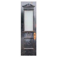 """Salvaged Antique 24"""" Door, Textured Glass"""