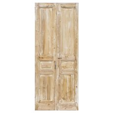 "Antique Pair of Salvaged 39"" Doors"