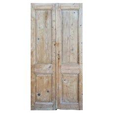 "Reclaimed Pair of Antique 43"" Doors"