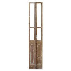 """Narrow Pair of Reclaimed 19"""" French Double Doors"""