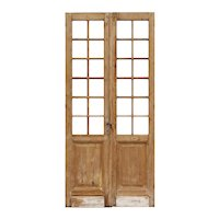 """Reclaimed Pair of 44"""" French Double Doors"""