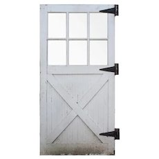 """Salvaged Antique 47"""" Carriage or Barn Door, Early 1900s"""