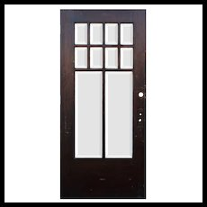 "Salvaged 38"" Craftsman Entry Door with Beveled Glass, Oak"