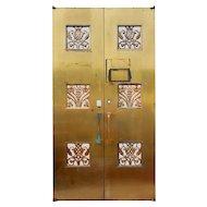 Reclaimed Pair of Antique Art Deco Bronze Doors, Early 1900s