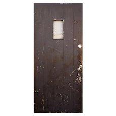 """Reclaimed 36"""" Antique Plank Door, Early 1900s"""