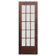 """Reclaimed 30"""" Divided Light Oak Door, Beveled Glass"""