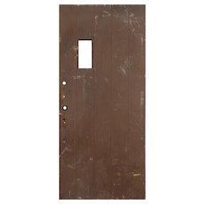 "Salvaged 36"" Antique Plank Door, Early 1900s"