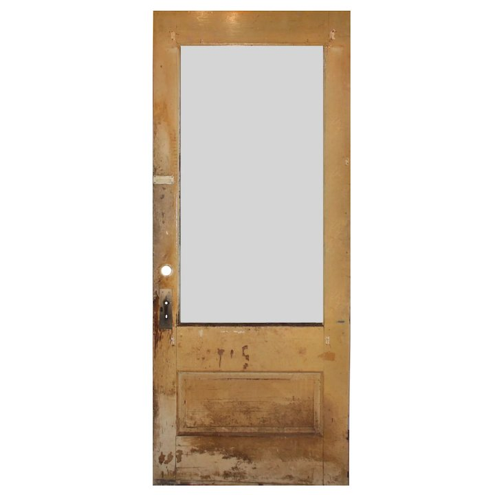 Salvaged Antique Door with Egg-and-Dart Trim, Early 1900s - Salvaged Antique Door With Egg-and-Dart Trim, Early 1900s