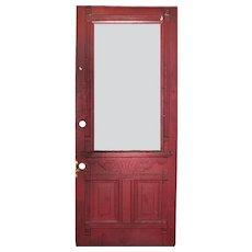 "Reclaimed Antique 34"" Eastlake Door, Late 19th Century"