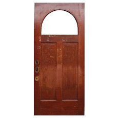 "Salvaged Antique 36"" Door with Arched Window"