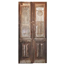 Reclaimed French Colonial Revival Door Pair, Early 1900s