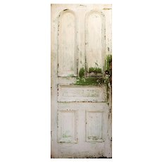 "Reclaimed 32"" Door with Arched Panels, Late 19th Century"