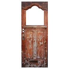 """Salvaged Antique 32"""" Door, Early 1900s"""