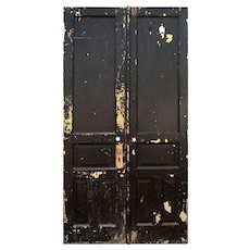 """Salvaged Pair of Antique 46"""" Double Doors"""