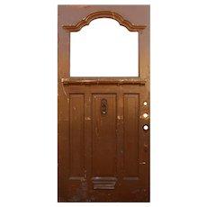 """Reclaimed Antique 40"""" Door, Early 1900s"""