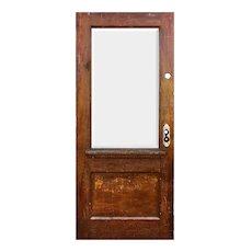 """Reclaimed 34"""" Oak Door with Dentil Trim"""