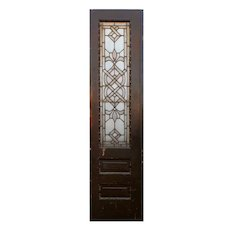 """Reclaimed 20"""" Door with Beveled and Leaded Glass, Jewels"""