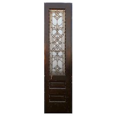 "Reclaimed 20"" Door with Beveled and Leaded Glass, Jewels"