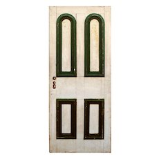 """Reclaimed 34"""" Door with Arched Panels, Late 19th Century"""