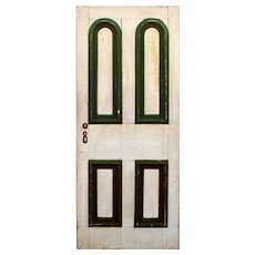 "Reclaimed 34"" Door with Arched Panels, Late 19th Century"