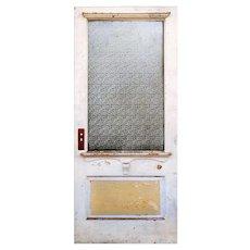 "Salvaged Antique 36"" Door with Florentine Glass"