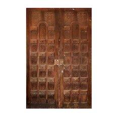"Salvaged Pair of Vintage 64"" Doors, Walnut"