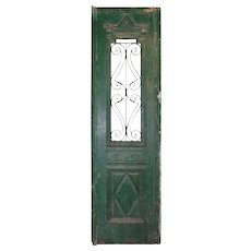 "Salvaged 24"" French Colonial Door with Iron Panels"