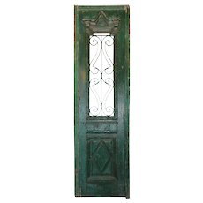 """Reclaimed 24"""" French Colonial Door with Iron Panels"""
