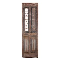 """Reclaimed 30"""" French Colonial Door with Iron Panels"""