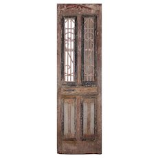 "Reclaimed 30"" French Colonial Door with Iron Panels"