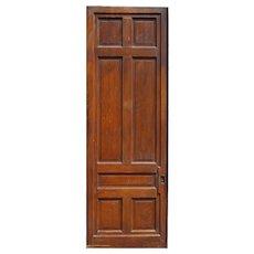 "Substantial Reclaimed Antique 3' by 8'8"" Sliding Door"