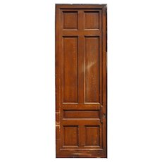 "Substantial Salvaged 3' by 8'8"" Sliding Door, Original Faux Grain"