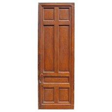 "Substantial Reclaimed 3' by 8'8"" Sliding Door, Original Faux Grain"
