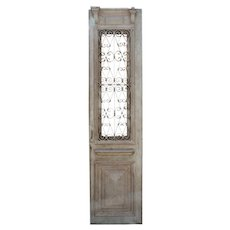 """Reclamed 26"""" French Colonial Door with Iron Insert"""