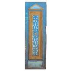 "Salvaged 29"" Carved French Colonial Door, C. 19th Century"