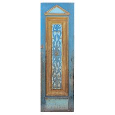 "Reclaimed 29"" Carved French Colonial Door, C. 19th Century"