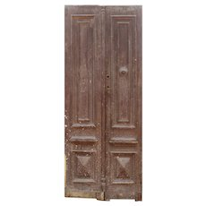 Salvaged Wood Door Pair from France, 19th Century