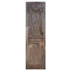 """Salvaged Antique 28"""" Wood Door from France"""