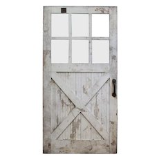 Reclaimed Antique Chippy Paint Carriage or Barn Door, Early 1900s
