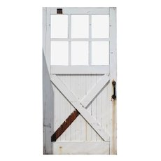 Salvaged Antique Chippy Paint Carriage or Barn Door, Early 1900s