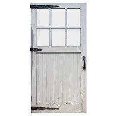 Salvaged Chippy Paint Carriage or Barn Door, Early 1900s