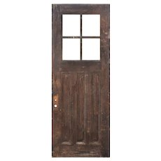 "Reclaimed 36"" Antique Oak Door, C. 1910"