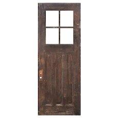 """Reclaimed 36"""" Antique Oak Door, C. 1910"""