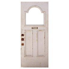 """Salvaged 34"""" Antique Door, C. 1910"""