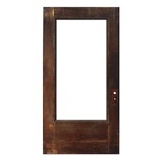"Reclaimed Antique 42"" Oak Door with Egg-and-Dart"