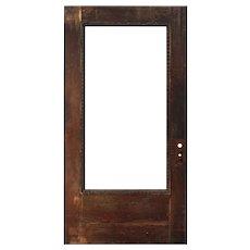 """Reclaimed Antique 42"""" Oak Door with Egg-and-Dart"""