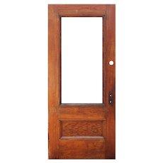 """Reclaimed 36"""" Antique Oak Door with Glass"""